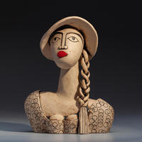 Birgitte - handbuilt ceramic stoneware sculpture (25.5cm high)