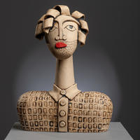 Dom - handbuilt ceramic stoneware sculpture (28cm high)