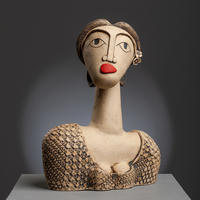 Grace - handbuilt ceramic stoneware sculpture (27cm high)
