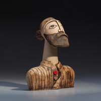 Rob - handbuilt ceramic stoneware sculpture (22cm high)