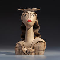 Rosie - handbuilt ceramic stoneware sculpture (25cm high)