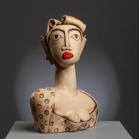 Victoria - handbuilt ceramic stoneware sculpture (26cm high)