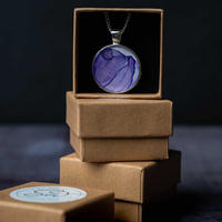 Alcohol ink necklace pendant £15