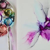 Abstract alcohol ink artwork