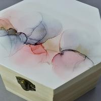 Hexagon alcohol ink box