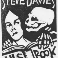 Death and the Bibliophile (book plate)