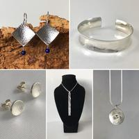 A selection of jewellery for sale for Warwickshire Open Studios 2021