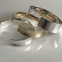 Gold and silver bangles made as a commission