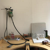 My workbench where I design and make my jewellery