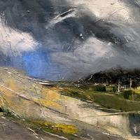 """""""Approaching Thunderclouds"""" - Oil on Canvas Framed"""