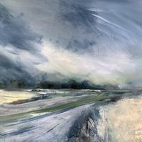 """""""May - Weather Changeable!"""" Oil on Canvas Framed"""