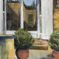 Entrance to Provence house - acrylic on panel