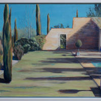 The house in Provence - acrylic on canvas