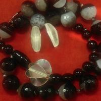 Semi Precious Vintage beads and silver