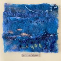 Miniture felted pieces with embroidery