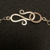 Sterling Silver Clasp detail with hallmark