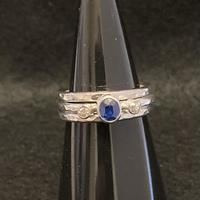 Sapphire and Diamonds Stacking Ring Set