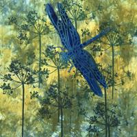 Dragonfly - hand dyed and stencilled £150