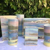 """Hebridies"" Slip Decorated Vases"