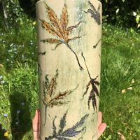 Tall Vase with Acer Leaves