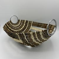 Display bowl Woven into steel frame