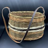 Woven willow shoulder bag