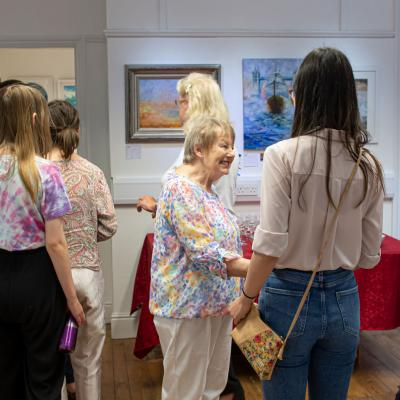 A private view event at East Lodge