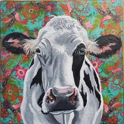 Hippy Moo! 50x50cm canvas £375