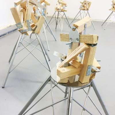 Babel series sculptures (2020) by Tammy Woodrow