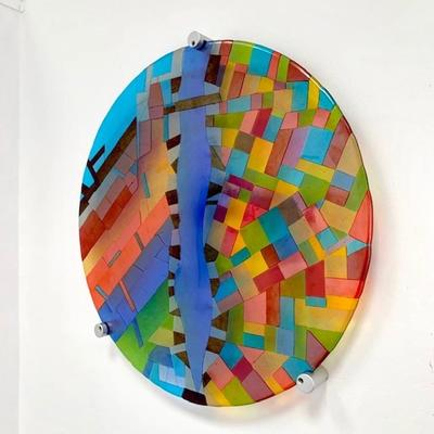 Fused glass wall art - From Above - Malang