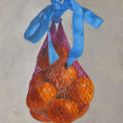 Bag of Clementines Oil on Panel Christine Hodges