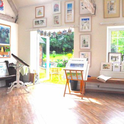 Sheep Dip studio , a light airy space .