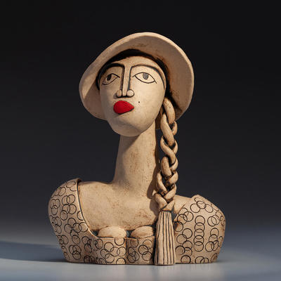 'Brigitte' ceramic stoneware (25.5cm high)