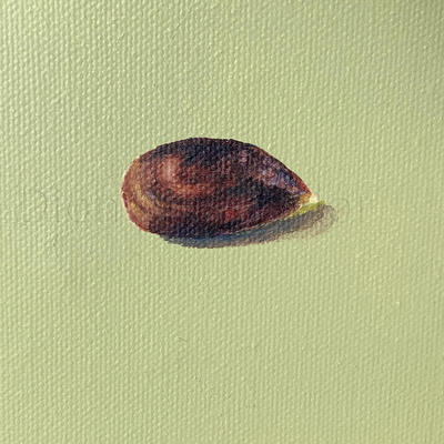 Apple on Sage, oil on canvas by Dion #interiors #seeds #ground #Sage #Apple