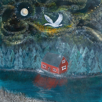Sawn of Tuonela - a magical, haunted island...and features as part of the Finnish Kalevala poem. Finnish mythology,