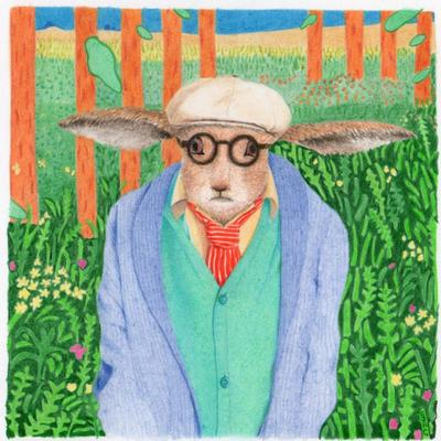 Hockney Hare ... part 4 of 6 iconic artists as hares!