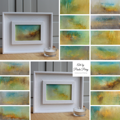 A series of small paintings titled 'Spring is Coming' within my 'Through the Studio Window' collection.  £40 each.