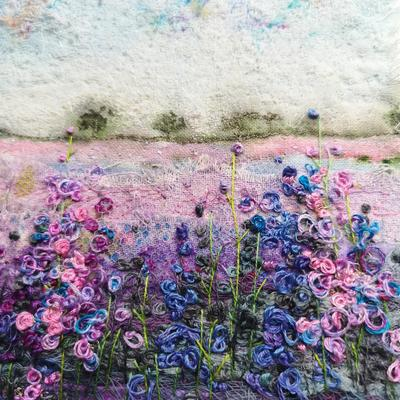 Hand and Machine Embroidered Textile Art.