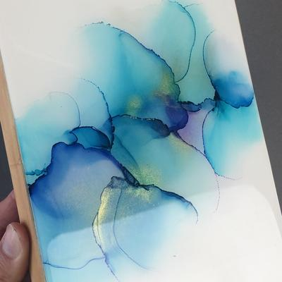 6'x8' alcohol ink artwork sealed in resin