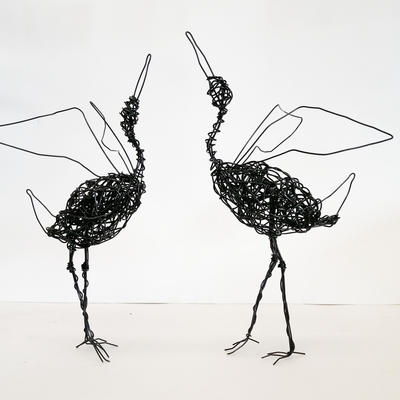 Annealed wire. 36cm high  £195.00  the pair