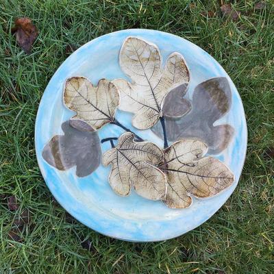 Large Fig-Leaf Platter