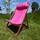 Pink,velvet and canvas hard wood deckchair for two !