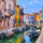 Colourful painted houses on the island of Burano