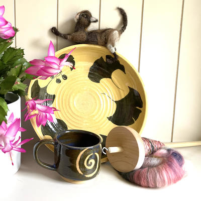 Wheel-thrown pottery, needle-felting and other small crafts