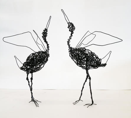 Dancing Cranes, annealed wire