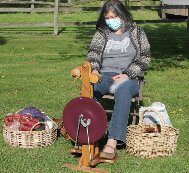Spinning 'in public' socially distanced and wearing a mask