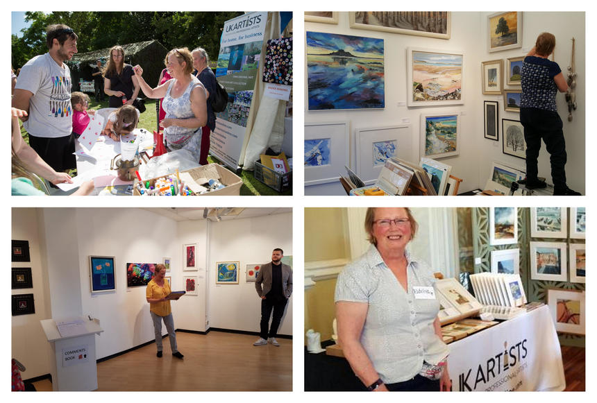 UK Artists at Annual Exhibitions, Art Fairs and Art in the Park.