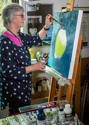 Heather Bailey in her Studio.