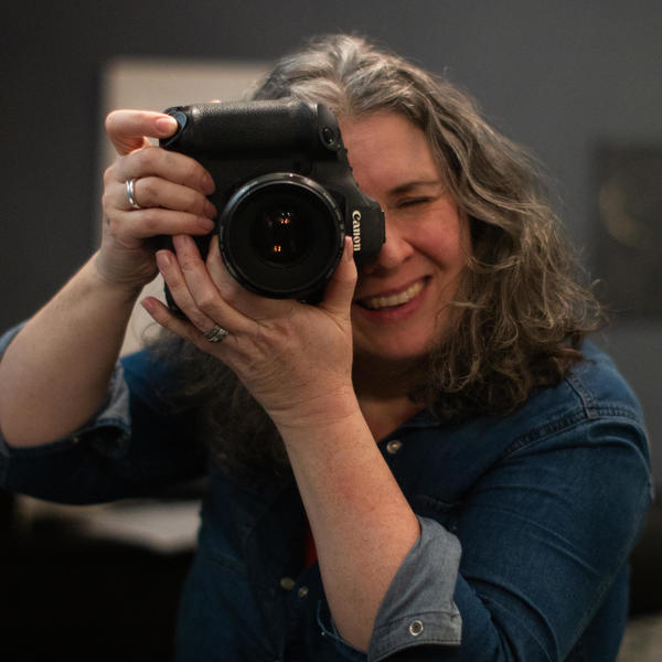 Linda Scannell Photographer with Camera
