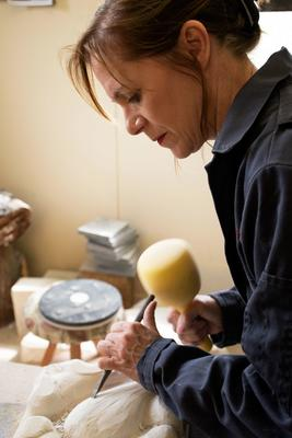 In the workshop stonecarving